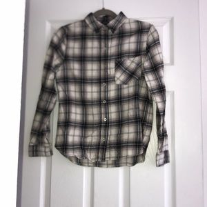 FOREVER 21 black and white plaid flannel